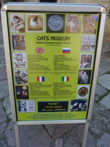 Cats Museum sign