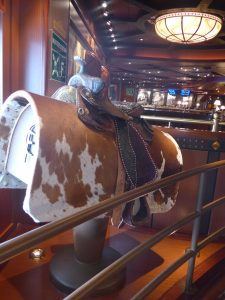 Bucking bronco decor on Caribbean Princess cruise ship