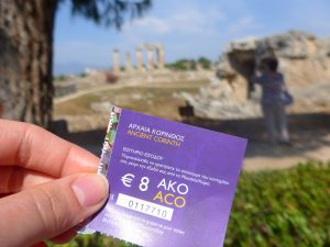 Ancient Corinth museum ticket