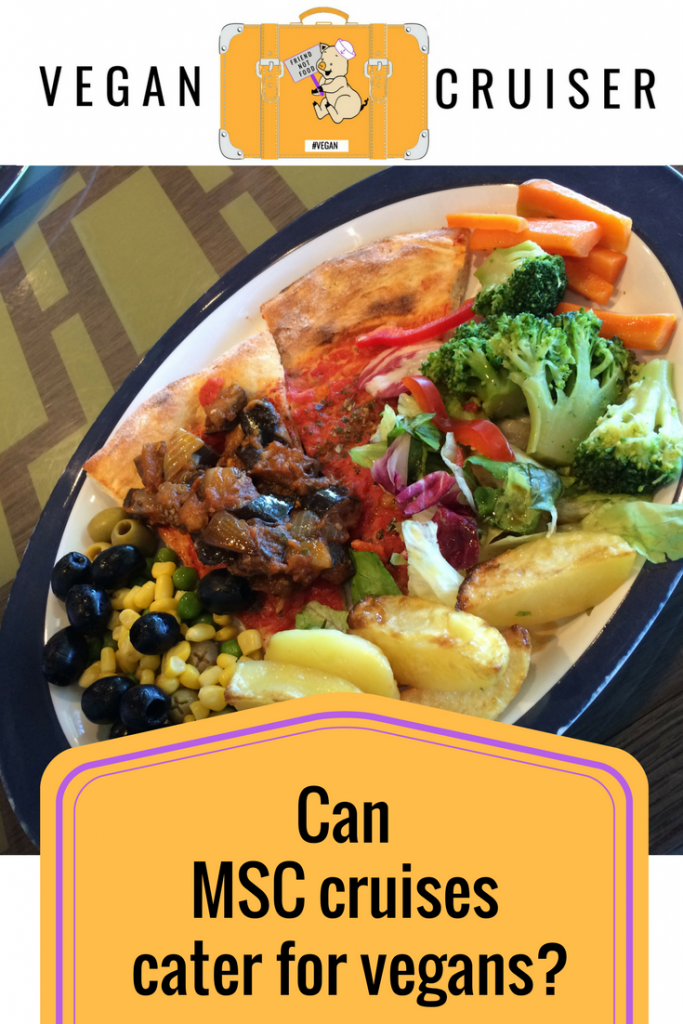 vegan food on MSC cruises