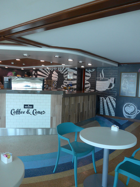 Coffee & Cones Caribbean Princess refurbishment