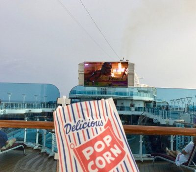 Movies Under the Stars Princess Cruises popcorn