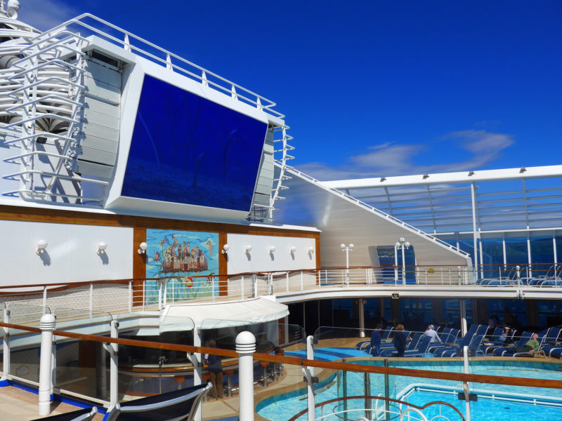 Caribbean Princess refurbishment 2017 screen