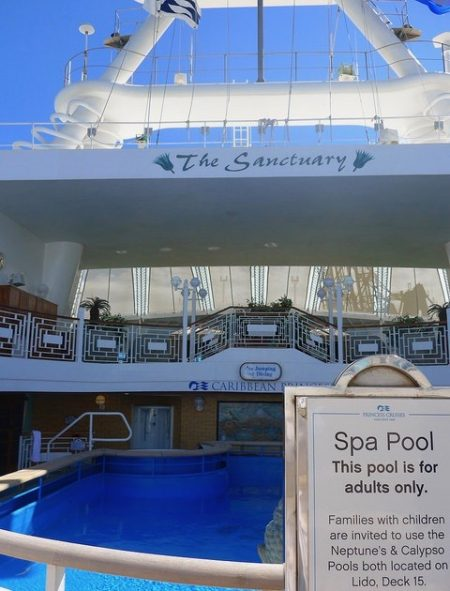 Caribbean Princess the Sanctuary adult spa pool