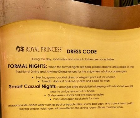 Princess cruises dress code