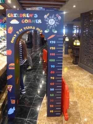 MSC buffet kids corner Splendida