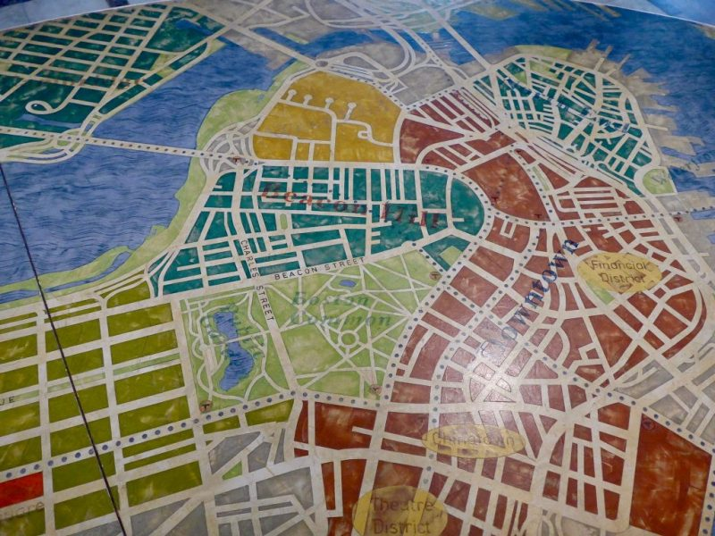 Boston map table