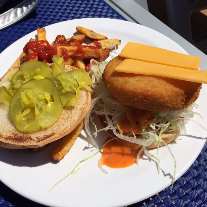Cruise vegan on Carnival with lunch from Guy's Burger