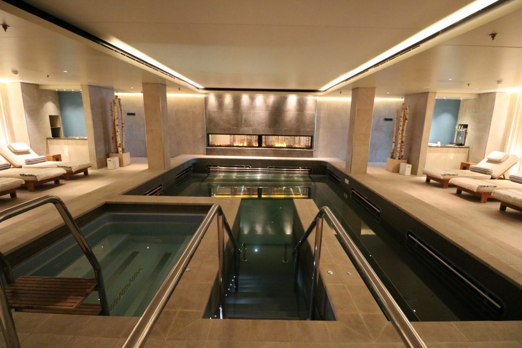Viking Ocean Cruises Liv Nordic spa pool