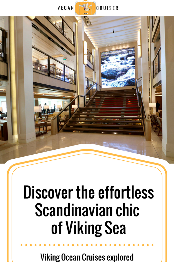 Viking Ocean Cruises atrium of viking sea Pinterest pin