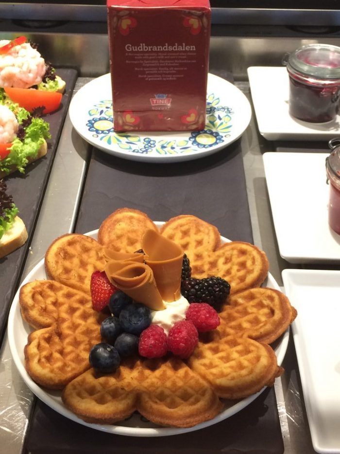 Waffle from Mamsen's deli onboard Viking Sea