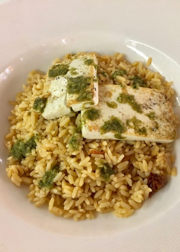 Marella Dream vegan tofu rice dish