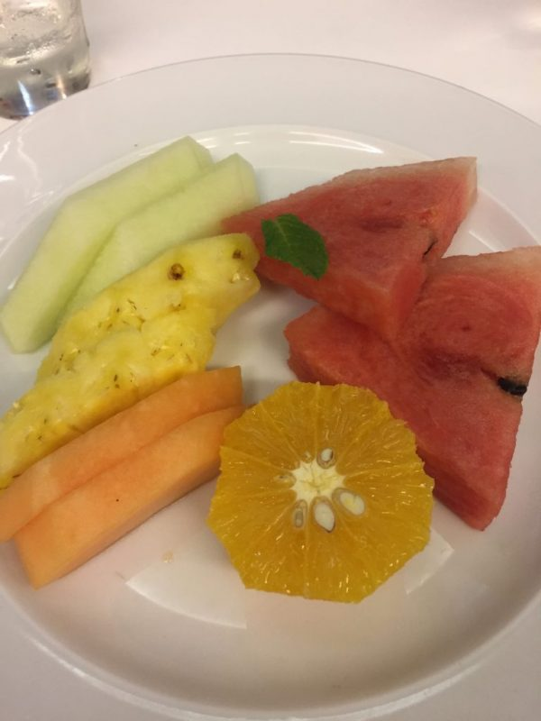 Marella Dream vegan dessert fruit platter