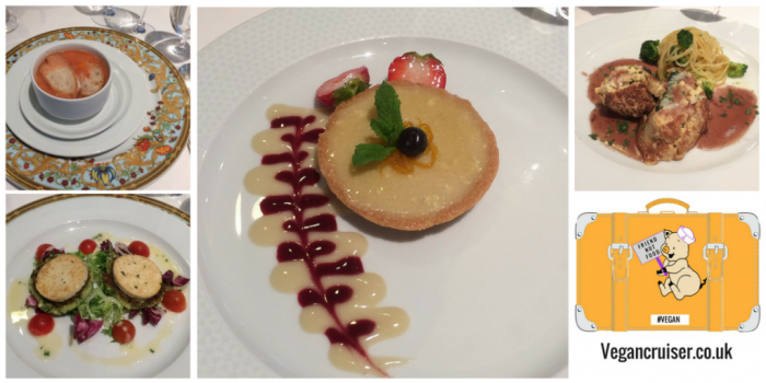 Oceania Cruises vegan lunch