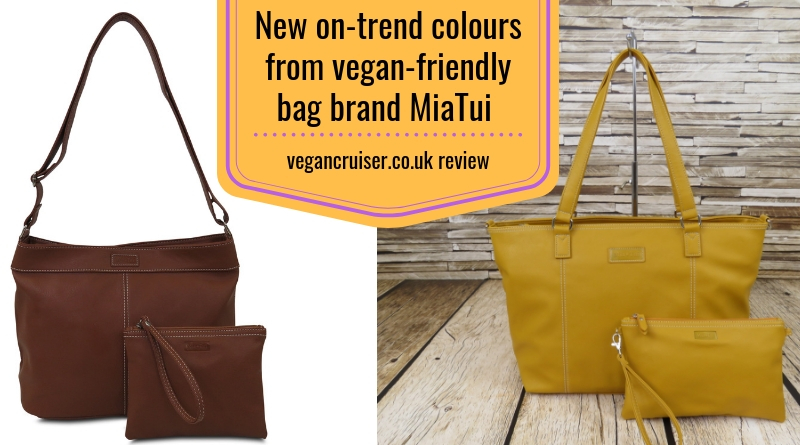 Vegan-friendly bag brand Miatui autumn colours for 2018