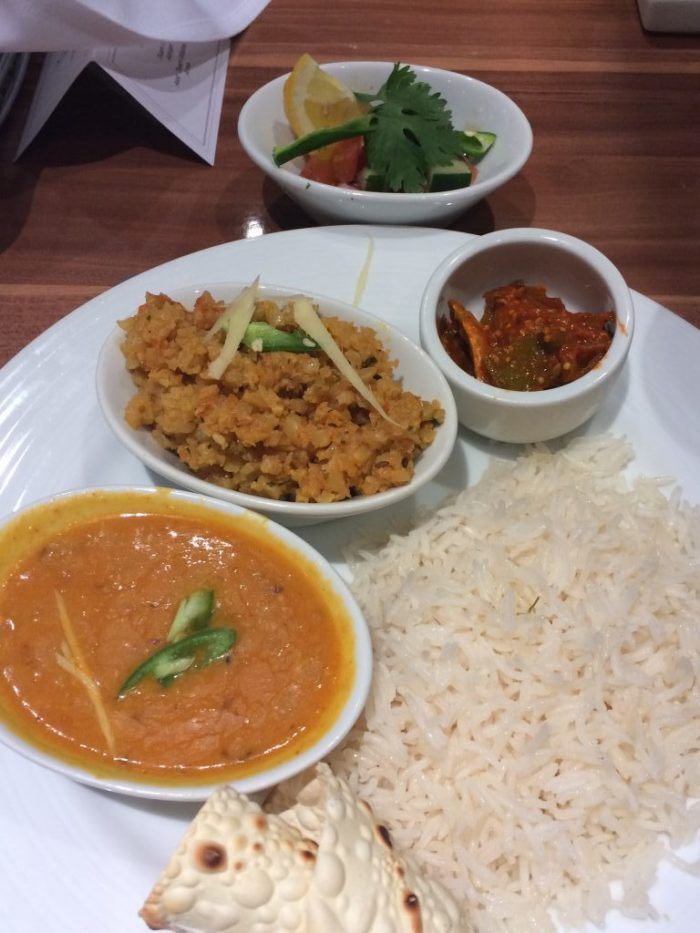 vegan dining on carnival horizon indian dahl curry option