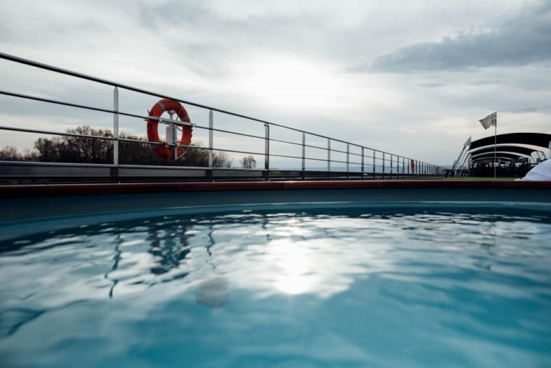 Danube river cruise top deck pool by Tara Gillen Photography