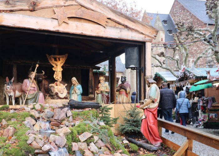 Rudesheim christmas market nativity