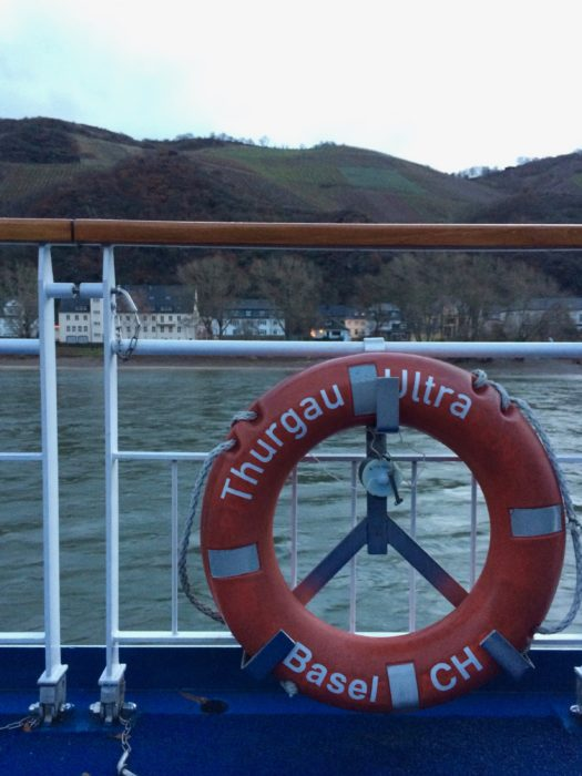 Christmas markets river cruise Rhein Vegan Travel on Thurgau Ultra deck