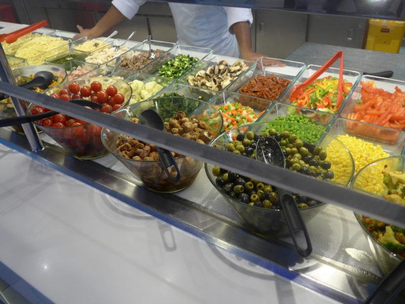 Celebrity Cruises salad bar Oceanview Cafe