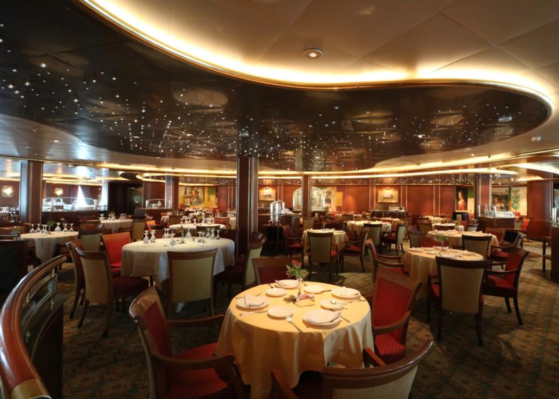 Crown Princess Cruises vegan wine list main dining room