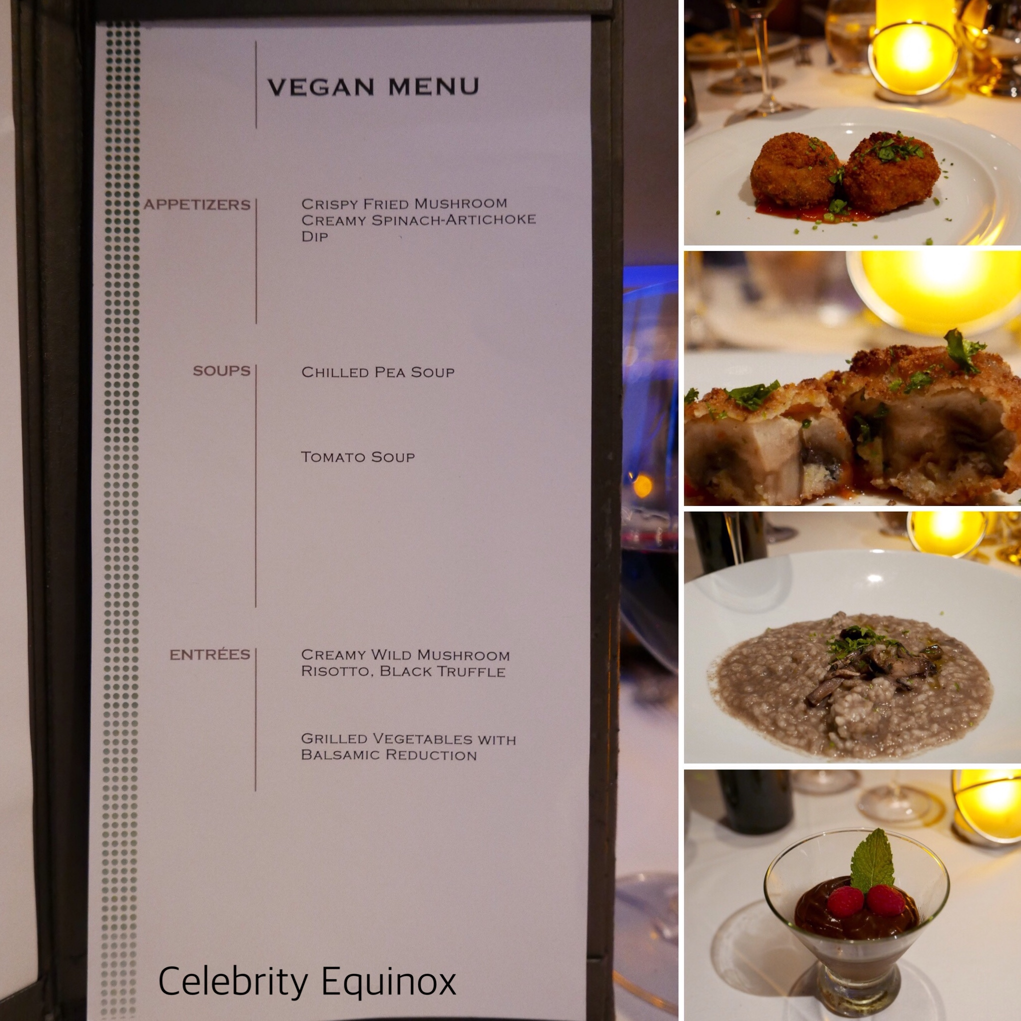 Celebrity Equinox vegan