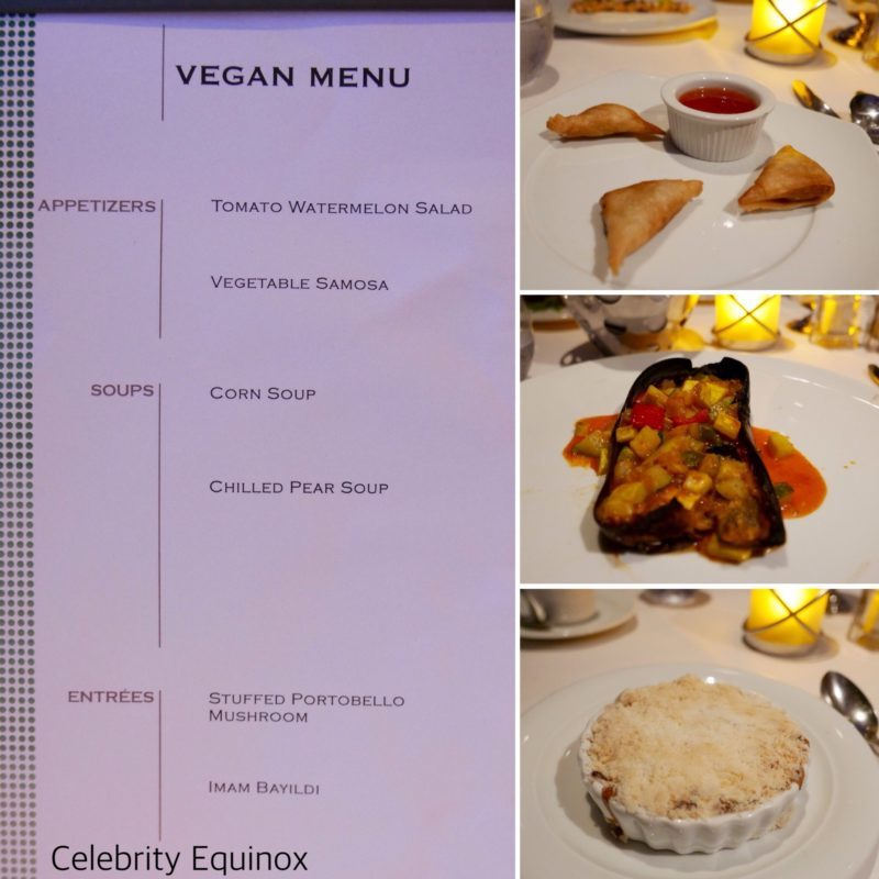 Celebrity cruises vegan menu