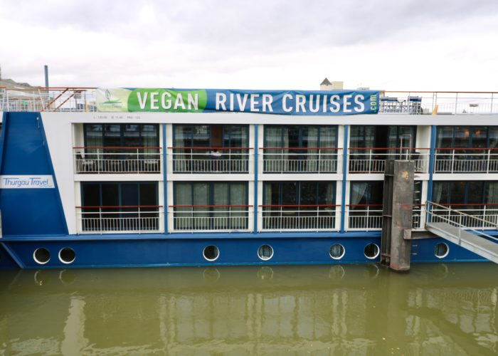 Vegan Travel river cruise ship banner