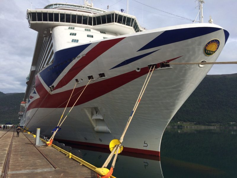 P&O livery Union Jack photo by Holidays at Sea blog