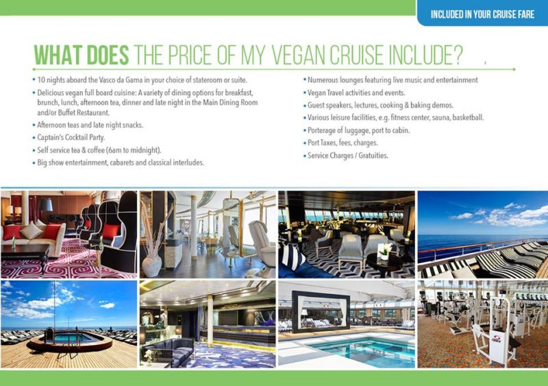 Vegan Baltic cruise with Vegan Travel what is included