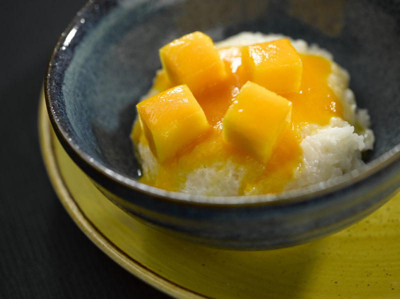 Oceania Cruises vegan mango coconut rice