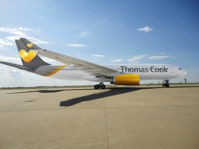 Thomas Cook vegan inflight menu options plane at Manchester