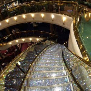 Swarovski staircase MSC Splendida