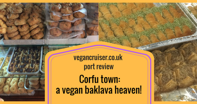 Corfu port review Vegancruiser