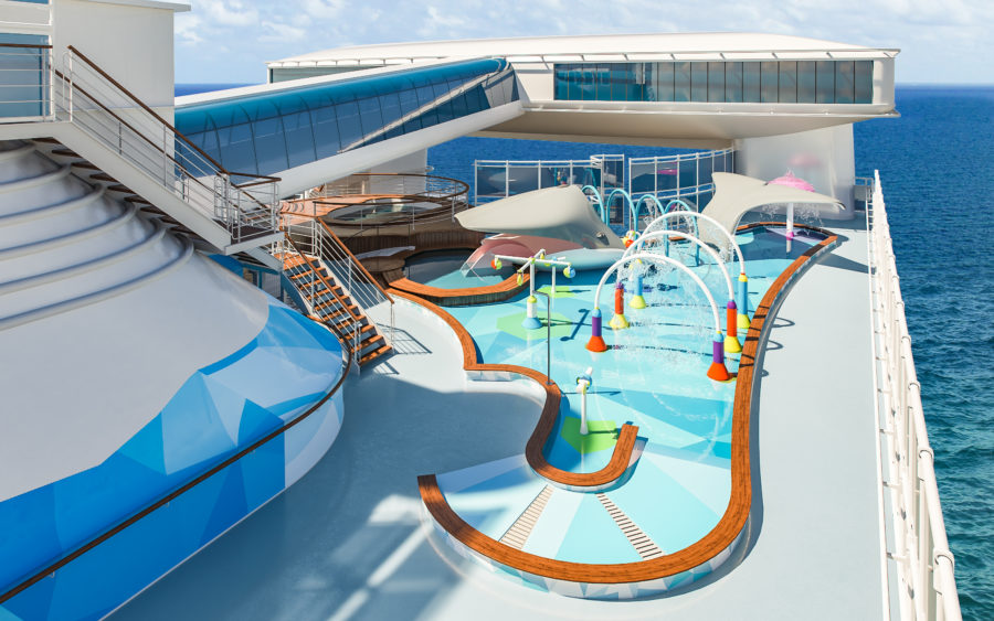 Caribbean Princess refurbishment 2019 Splashpad render