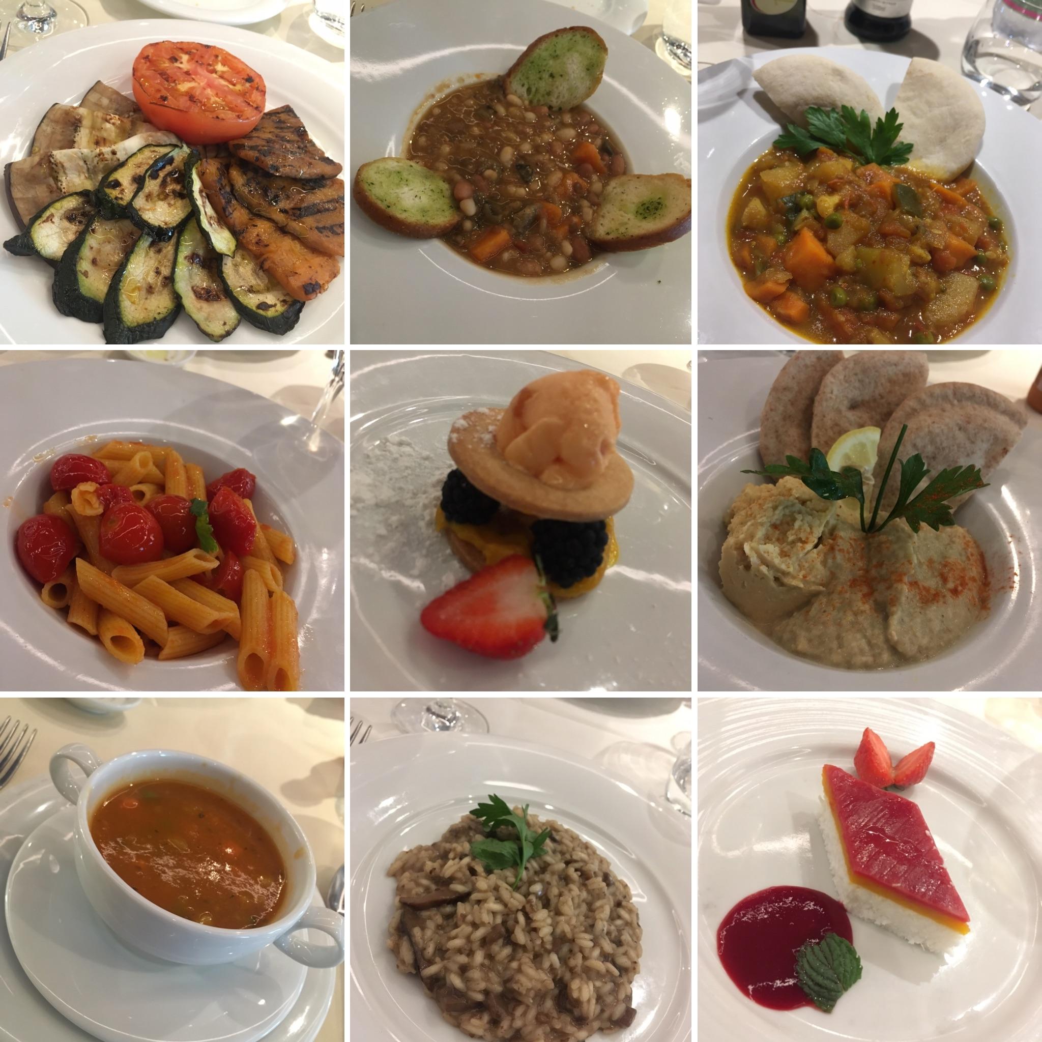 MSC cruises vegan meals