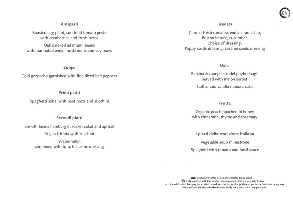 Costa Cruises vegan menu pdf