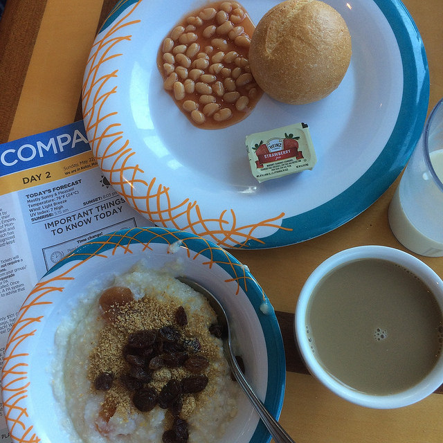 Royal Caribbean Windjammer vegan breakfast
