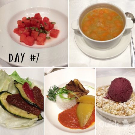 cruise vegan Princess Cruises dinner day 7 on Royal Princess