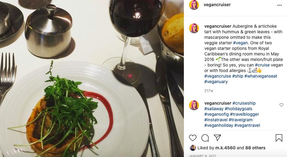 Royal Caribbean vegan MDR dinner adapted