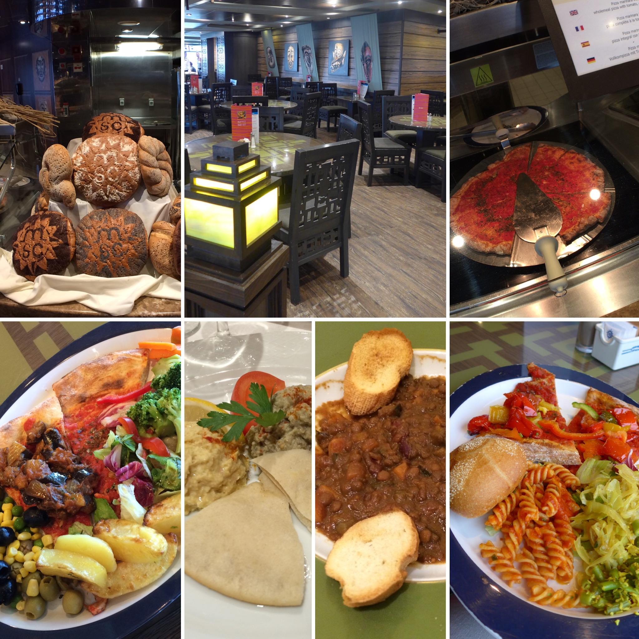 MSC Splendida vegan friendly cruise holiday food in buffet