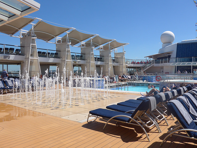 Celebrity Eclipse pool deck water feature