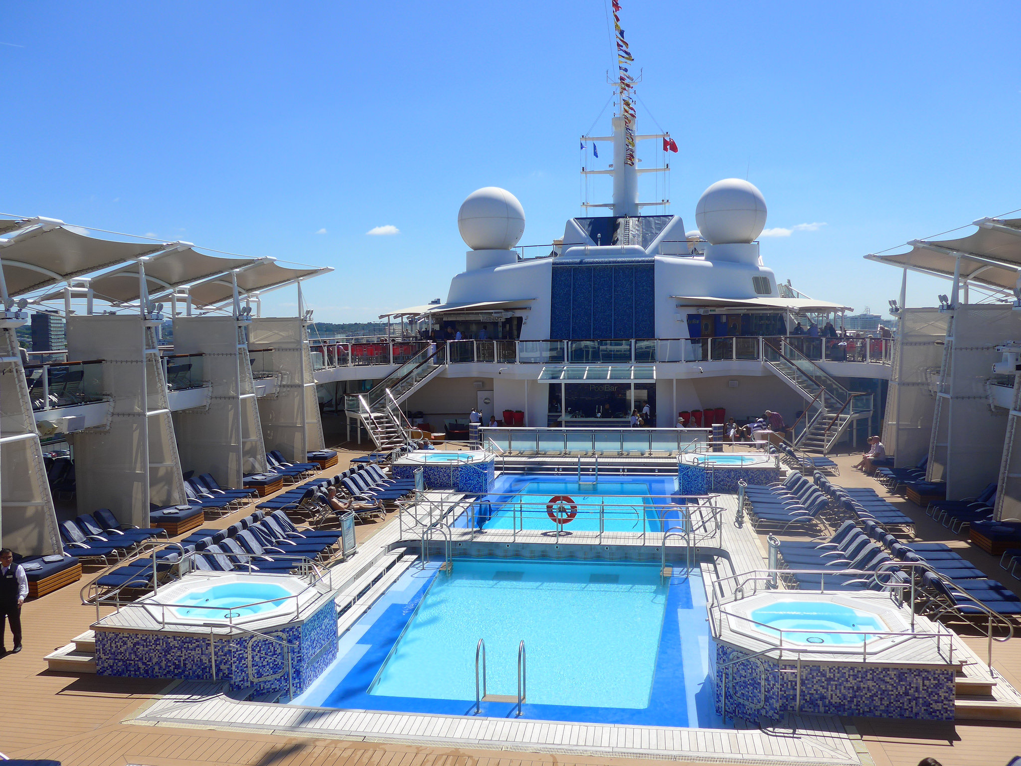 Celebrity Cruises Eclipse pool deck from the above