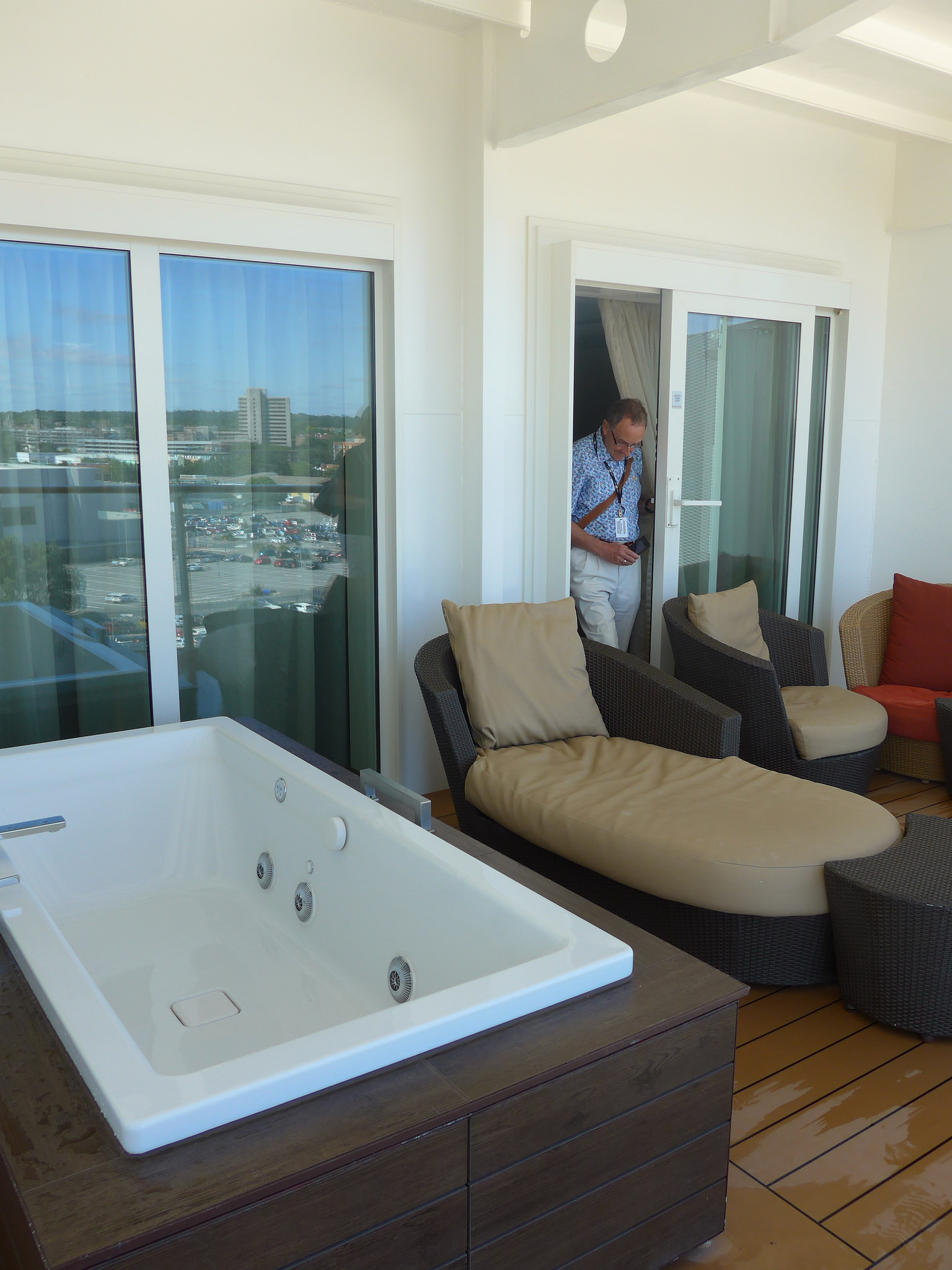 Celebrity Eclipse Penthouse Suite balcony with jacuzzi
