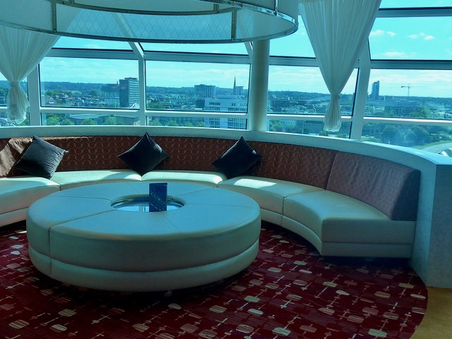 Sky Bar circular sofa Celebrity Eclipse