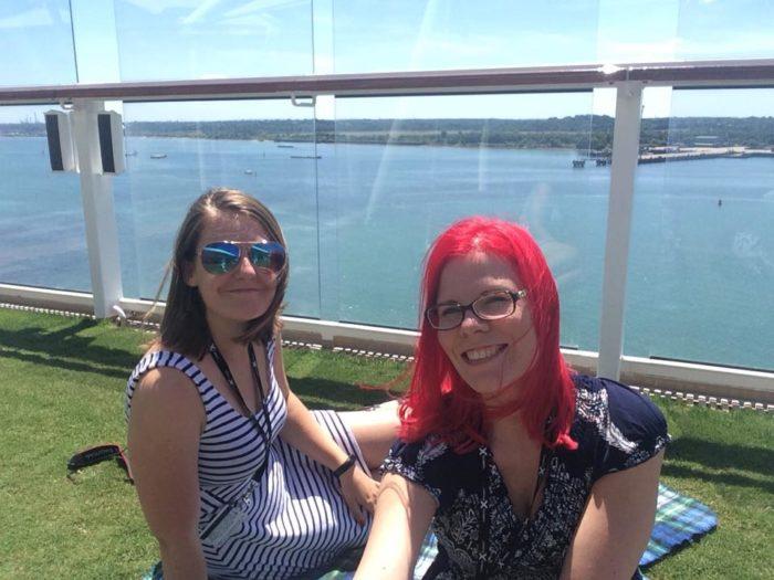 Emmacruises & Sanna Vegancruiser Celebrity Eclipse Lawn Deck