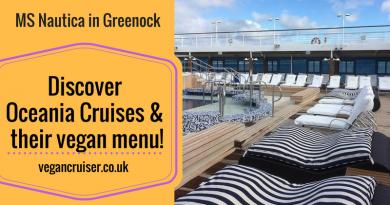 Oceania Cruises vegan menu vegancruiser blog
