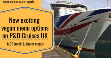 P&O vegan menu vegancruiser blog post 2019