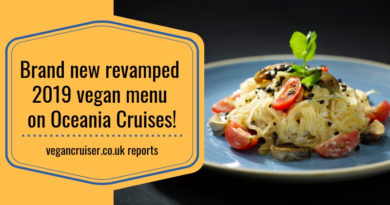 Oceania Cruises vegan menu new update for 2019 featured image for Vegancruiser blog