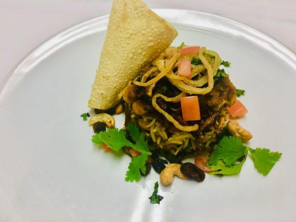 Azamara vegan menu Chana Masala dish